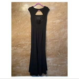 Eliza J black formal fitted gown